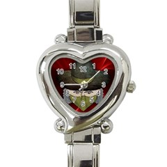 Illustration Drawing Vector Color Heart Italian Charm Watch