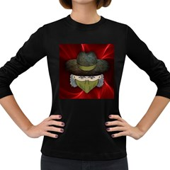 Illustration Drawing Vector Color Women s Long Sleeve Dark T Shirts
