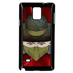 Illustration Drawing Vector Color Samsung Galaxy Note 4 Case (black)