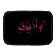 Purple Flower Pattern Design Abstract Background Netbook Case (medium)  by Amaryn4rt