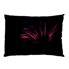 Purple Flower Pattern Design Abstract Background Pillow Case by Amaryn4rt
