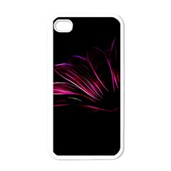 Purple Flower Pattern Design Abstract Background Apple Iphone 4 Case (white) by Amaryn4rt