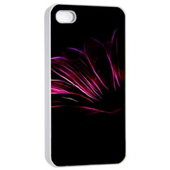 Purple Flower Pattern Design Abstract Background Apple Iphone 4/4s Seamless Case (white)