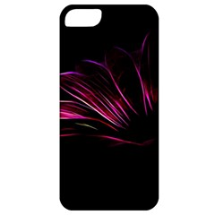 Purple Flower Pattern Design Abstract Background Apple Iphone 5 Classic Hardshell Case