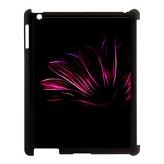Purple Flower Pattern Design Abstract Background Apple Ipad 3/4 Case (black) by Amaryn4rt