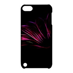 Purple Flower Pattern Design Abstract Background Apple Ipod Touch 5 Hardshell Case With Stand