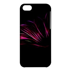 Purple Flower Pattern Design Abstract Background Apple Iphone 5c Hardshell Case by Amaryn4rt