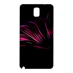 Purple Flower Pattern Design Abstract Background Samsung Galaxy Note 3 N9005 Hardshell Back Case