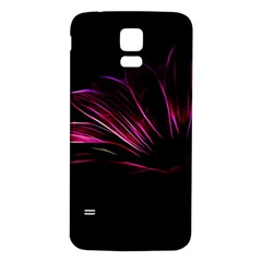 Purple Flower Pattern Design Abstract Background Samsung Galaxy S5 Back Case (white) by Amaryn4rt