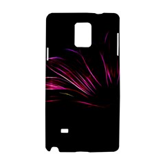 Purple Flower Pattern Design Abstract Background Samsung Galaxy Note 4 Hardshell Case