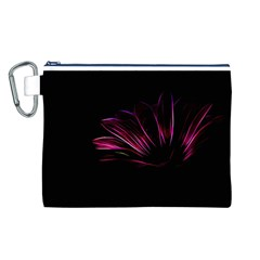 Purple Flower Pattern Design Abstract Background Canvas Cosmetic Bag (l)