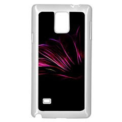 Purple Flower Pattern Design Abstract Background Samsung Galaxy Note 4 Case (white)