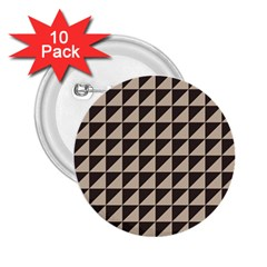 Brown Triangles Background Pattern  2 25  Buttons (10 Pack)
