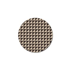 Brown Triangles Background Pattern  Golf Ball Marker