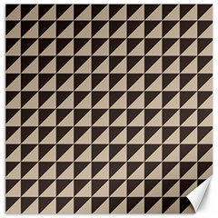 Brown Triangles Background Pattern  Canvas 16  X 16   by Amaryn4rt