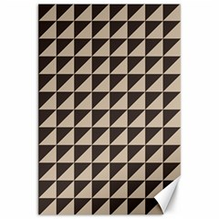Brown Triangles Background Pattern  Canvas 20  X 30