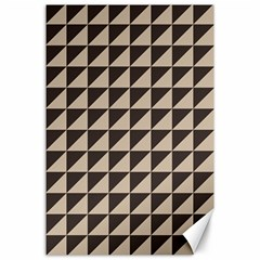 Brown Triangles Background Pattern  Canvas 24  X 36  by Amaryn4rt
