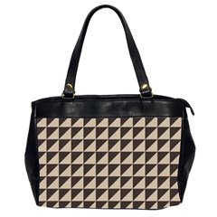 Brown Triangles Background Pattern  Office Handbags (2 Sides)