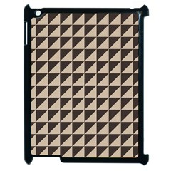 Brown Triangles Background Pattern  Apple Ipad 2 Case (black)