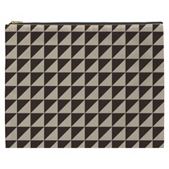 Brown Triangles Background Pattern  Cosmetic Bag (xxxl)  by Amaryn4rt