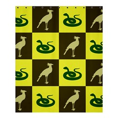 Snake Bird Shower Curtain 60  X 72  (medium)  by AnjaniArt