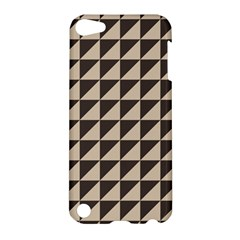 Brown Triangles Background Pattern  Apple Ipod Touch 5 Hardshell Case