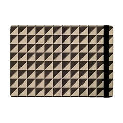 Brown Triangles Background Pattern  Apple Ipad Mini Flip Case by Amaryn4rt