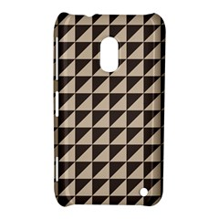 Brown Triangles Background Pattern  Nokia Lumia 620 by Amaryn4rt