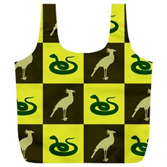 Snake Bird Full Print Recycle Bags (l)  by AnjaniArt