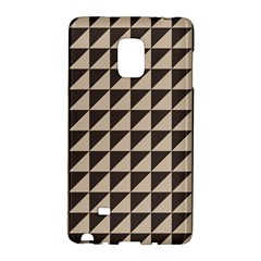 Brown Triangles Background Pattern  Galaxy Note Edge