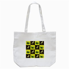 Snake Bird Tote Bag (white) by AnjaniArt