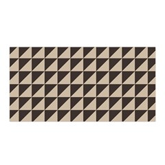 Brown Triangles Background Pattern  Satin Wrap by Amaryn4rt