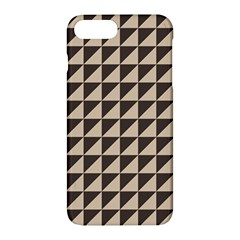 Brown Triangles Background Pattern  Apple Iphone 7 Plus Hardshell Case