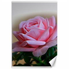 Rose Pink Flowers Pink Saturday Canvas 12  X 18