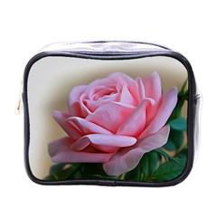 Rose Pink Flowers Pink Saturday Mini Toiletries Bags