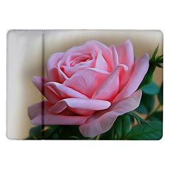 Rose Pink Flowers Pink Saturday Samsung Galaxy Tab 10 1  P7500 Flip Case by Amaryn4rt