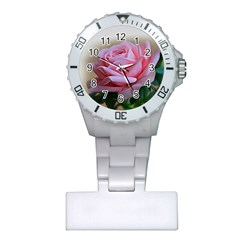 Rose Pink Flowers Pink Saturday Plastic Nurses Watch by Amaryn4rt