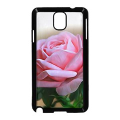Rose Pink Flowers Pink Saturday Samsung Galaxy Note 3 Neo Hardshell Case (black)