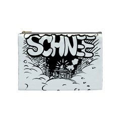 Snow Removal Winter Word Cosmetic Bag (medium)