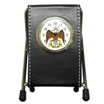 Scottish Rite Watch Pen Holder Desk Clock