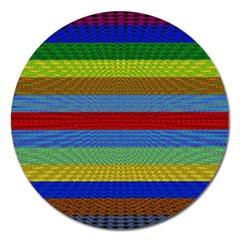 Pattern Background Magnet 5  (round)