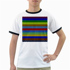 Pattern Background Ringer T Shirts