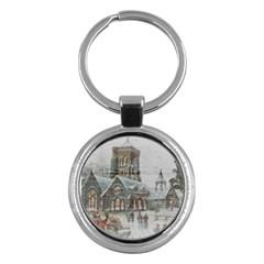 Santa Claus Nicholas Key Chains (round)