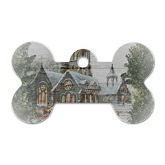 Santa Claus Nicholas Dog Tag Bone (two Sides)