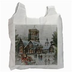 Santa Claus Nicholas Recycle Bag (two Side)