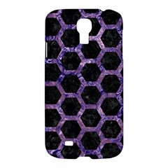 Hexagon2 Black Marble & Purple Marble Samsung Galaxy S4 I9500/i9505 Hardshell Case by trendistuff