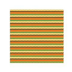 Striped Pictures Small Satin Scarf (Square) by AnjaniArt
