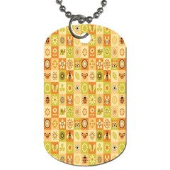 Texture Background Stripes Color Animals Dog Tag (two Sides) by AnjaniArt