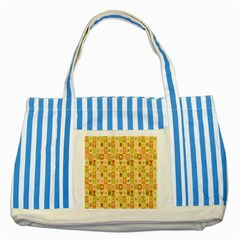 Texture Background Stripes Color Animals Striped Blue Tote Bag by AnjaniArt