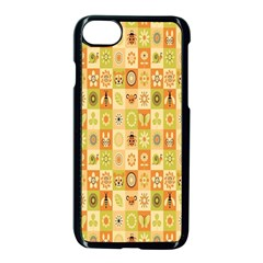 Texture Background Stripes Color Animals Apple iPhone 7 Seamless Case (Black) by AnjaniArt
